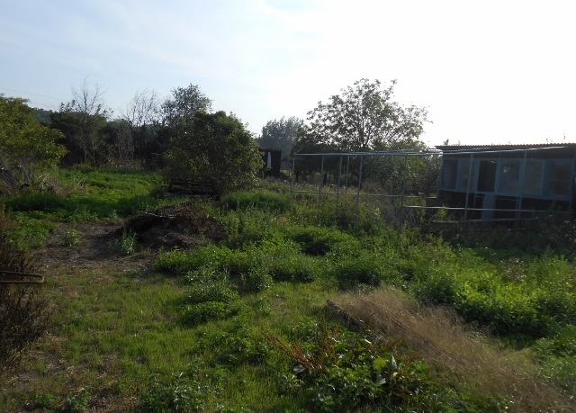 Přístřešek a střed zahrady