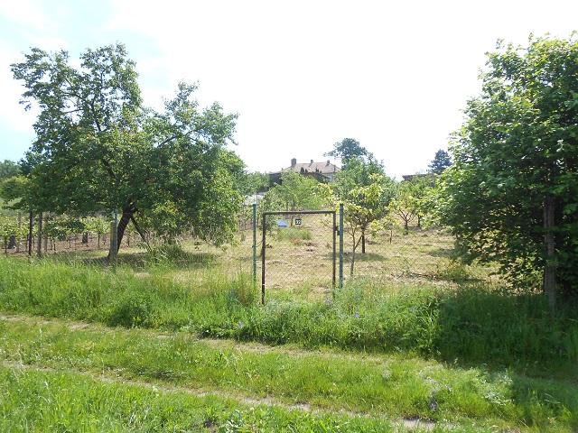 Spodní část zahrady sbrankou