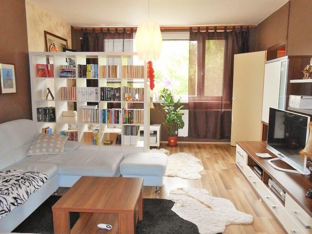 Obývák, pohled zezadu k oknu