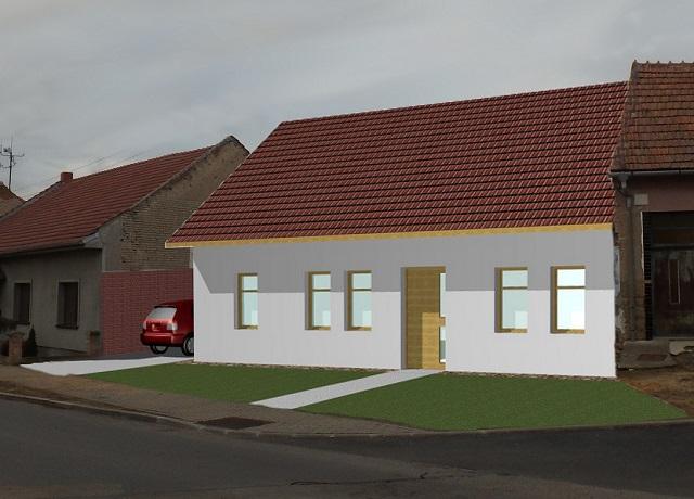 Vizualizace domu, pohled zprava