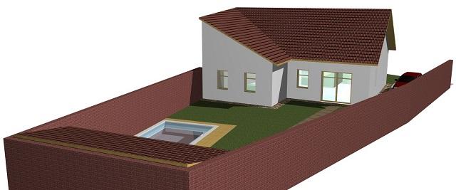 Vizualizace domu zezadu zleva