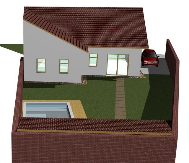 Vizualizace domu zezadu