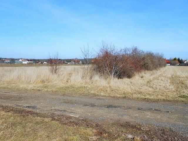 Pozemek zprava od cesty