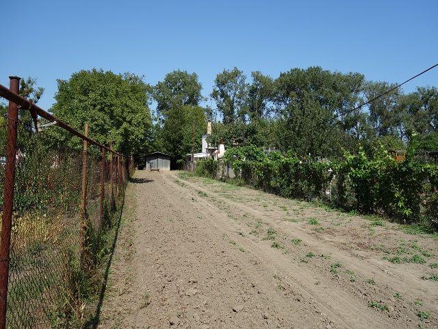 Střední část zahrady zleva
