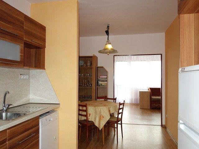 Pohled z kuchyně k obýváku