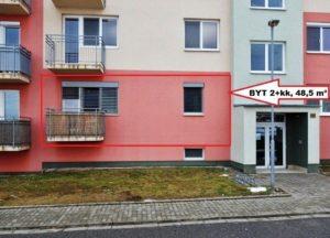Prodej bytu 2+kk 48,5 m² v OV, Uherské Hradiště, Trnkova